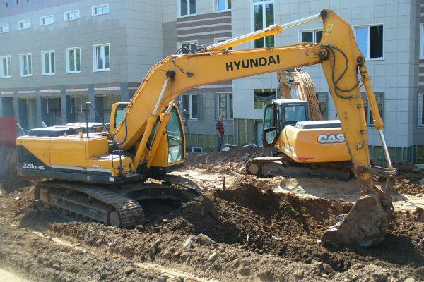 Услуги гусеничного экскаватора Hyundai R 220W-9S